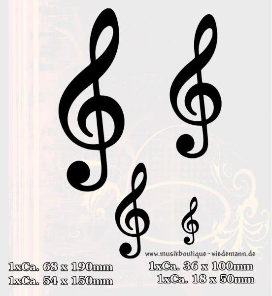 Aufkleber Vier Violinschlüssel