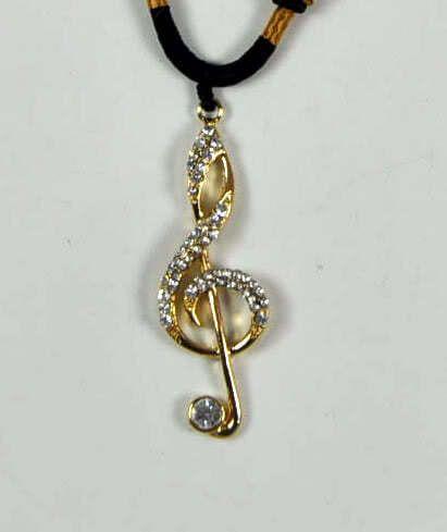 Violinschlüssel mit Halskette
