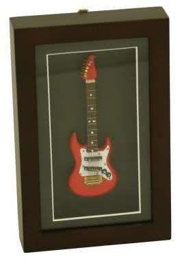 Deko-Objekt E-Gitarre im Rahmen 22x14cm
