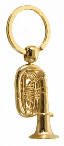 Schlüsselanhänger Tuba golden