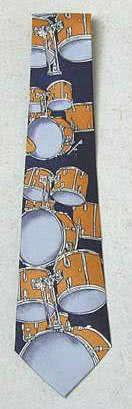 Krawatte Schlagzeug dunkelblau