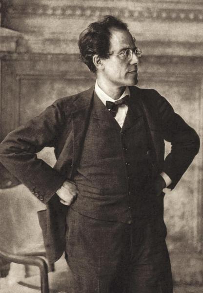 Klappkarte Gustav Mahler