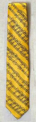 Krawatte Notenblatt maisgelb