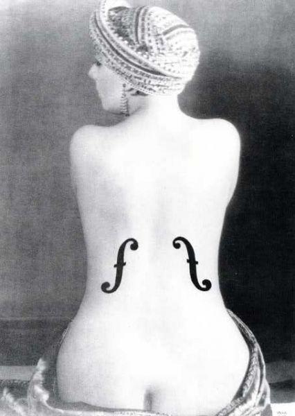 Postkarte Le Violon D'Ingres (Man Ray) Akt