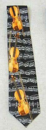 Krawatte Violinen schwarz