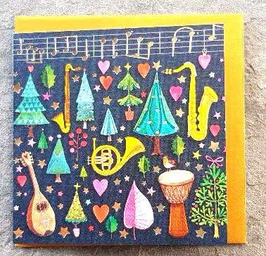 Kleine Doppelkarte - für Weihnachten