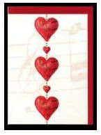 Klappkarte Hearts 1