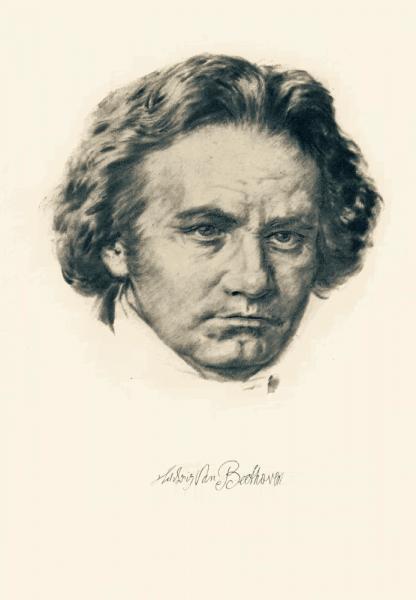 Klappkarte Ludwig van Beethoven