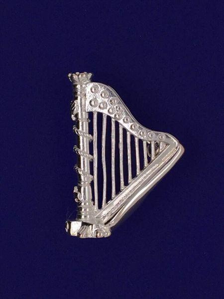 kleine Harfe als Brosche