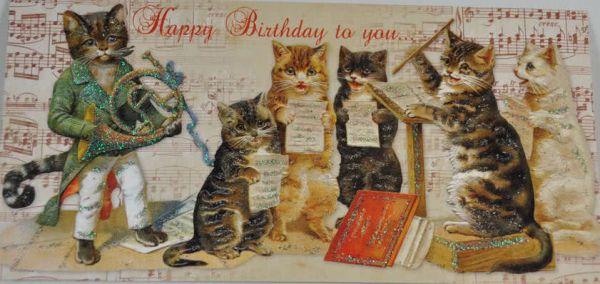 XXL-Card Katzenmusik zum Geburtstag