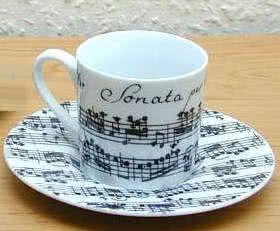 Espressotasse Vivaldi Libretto weiß