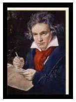 Kunst-Klappkarte Ludwig van Beethoven