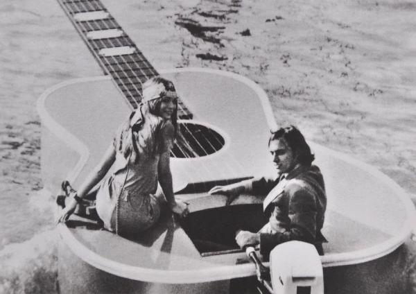Postkarte Gitarrenduo