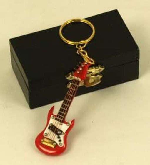 Schlüsselanhänger E-Gitarre rot 7cm