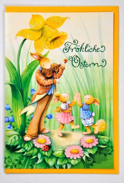 Doppelkarte Fröhliche Ostern