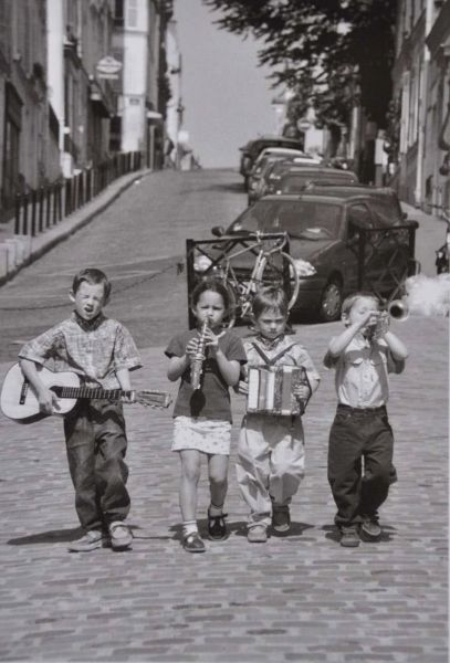 Postkarte Boys Band, Montmartre