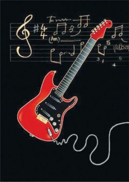 Klappkarte E-Gitarre
