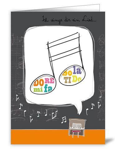 """Doppelkarte """"Ich sing dir ein Lied..."""""""