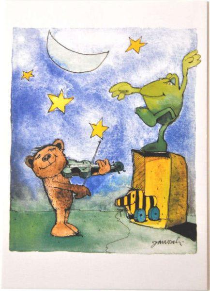 Janosch Postkarte Ständchen