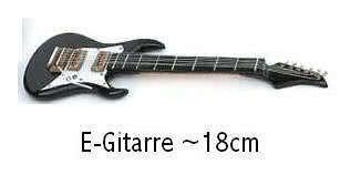 Miniatur - E-Gitarre schwarz ~18cm