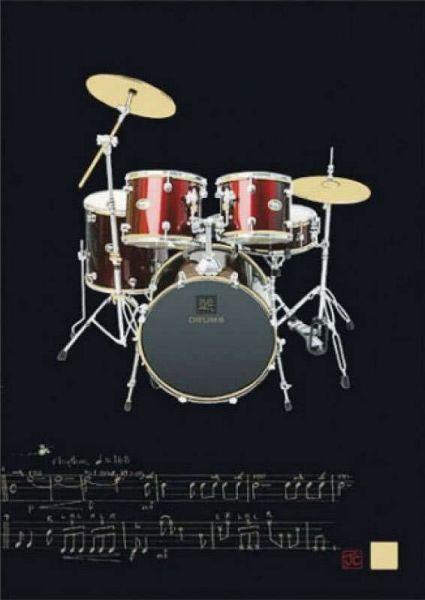 Klappkarte Schlagzeug