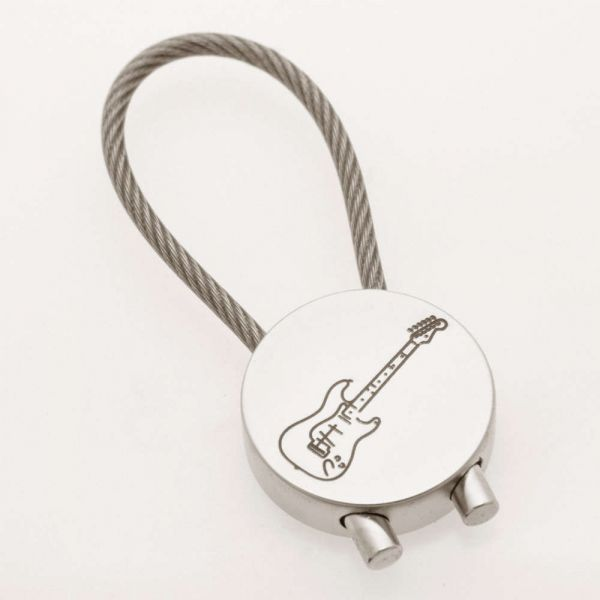 Schlüsselanhänger E-Gitarre verchromt