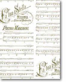 Geschenkpapier golden Melodia