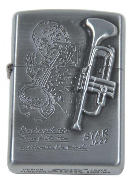 Sturmfeuerzeug Star Jazz Trompete