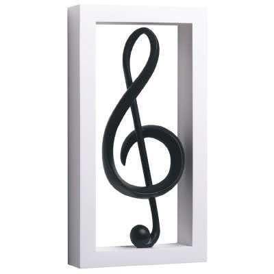 Wandschmuck Violinschlüssel (gerahmt)