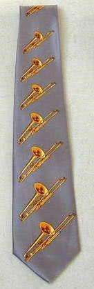 Krawatte Posaunen grau