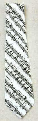 Krawatte Notenblatt weiß