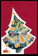 Weihnachts-Klappkarte Weihnachtsbaum mit Instrumenten