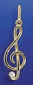 Violinschlüssel mit Zirkonia