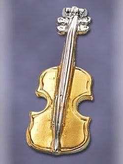 Geige, Violine, anstecker,