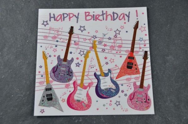 Glimmerlack Postkarte XXL Happy Birthday