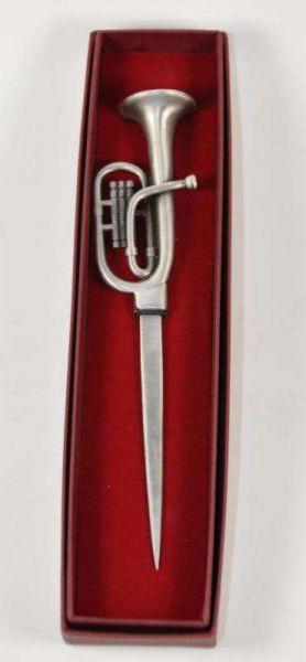 Brieföffner Tuba (Metall)