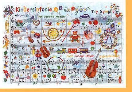 Klappkarte Mozarts Kindersinfonie