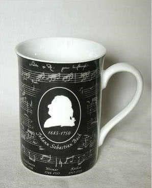 Porzellanbecher Bach in Black