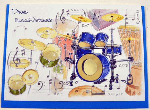 Klappkarte Musical Instruments: Drums