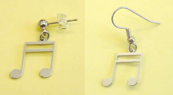 Ohrhänger Doppelsechzehntel Steel Design