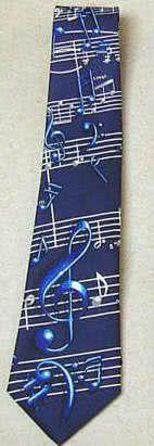 Krawatte Notenschlüssel dunkelblau