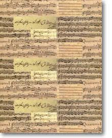 Geschenkpapier Mozart