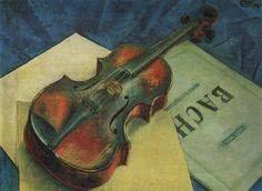 Doppelkarte Nature morte au violon