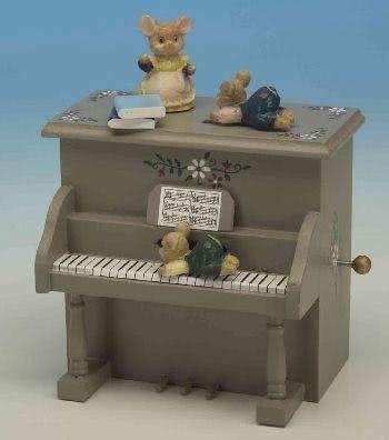 Holz-Spieluhr Piano